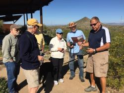 Bill Amberg is on the Board of this pubic park; here he is telling us about the wildlife...