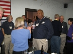 Lennie Baylor and various class members at VFW - 2009